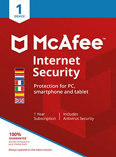 McAfee Internet Security 01-Device (AMZ)|Standard|1|1 année|PC/Mac/Android|Telechargement
