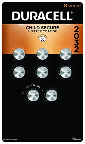 Duracell - 2032 3V Lithium Coin Battery - with bitter coating - 8 count