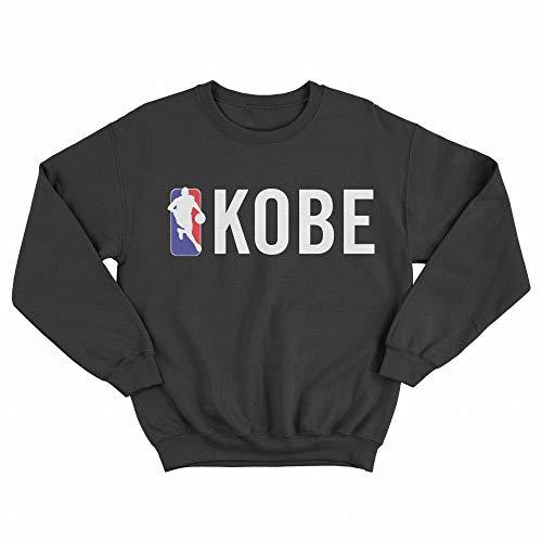 MUSH Felpa Girocollo Nera Unisex - Scritta Kobe Logo - NBA, L
