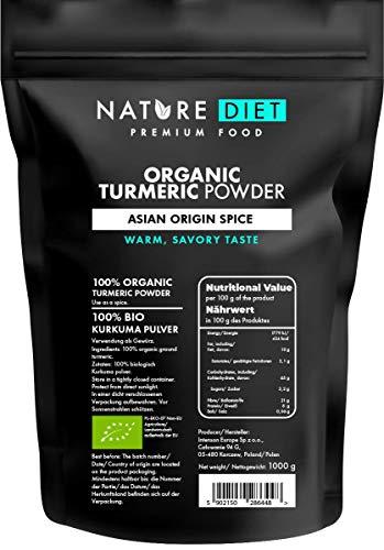 Nature Diet Organic, curcuma in polvere, 1000 g