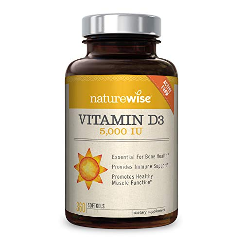 NatureWise Vitamin D3 5,000 IU for Healthy Muscle Function, Bone...