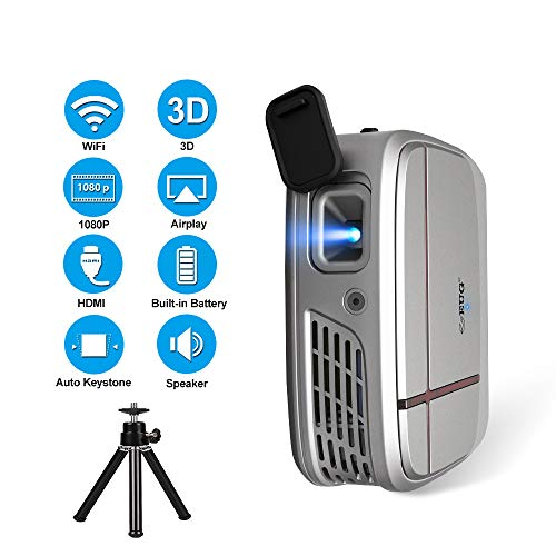 Portatile Mini 3D Display DLP Proietto Supporto HD 1080P Senza Fili Schermo Specchio LCD Video Pproietto con HDMI USB VGA AV per Case Film Gaming Festa Televisivi Spettacoli