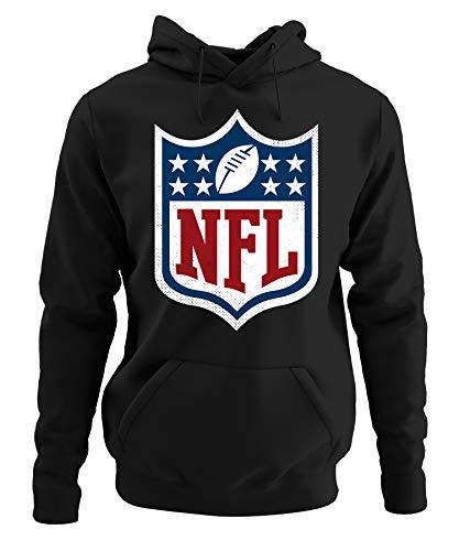 Quattro Formatee American Football NFL Super Bowl Pullover Hoodie Kapuzenpullover | Schwarz | S