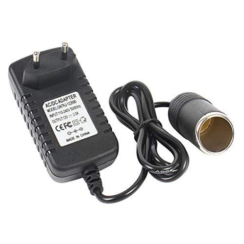 Wallfire 240V Prise Secteur à 12V Prise Adaptateur convertisseur Allume-Cigare 2A AC/DC (UE | UK Plug) (Size : EU Plug)