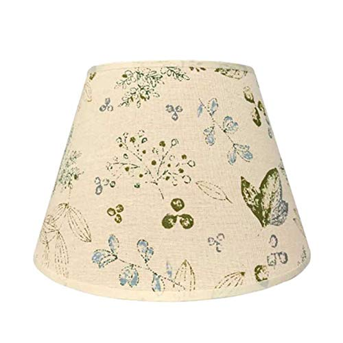 SAC d'épaule Pantalla de impresión Tradicional y de Moda, Tela de Lino Lámpara Redonda, Adecuado para lámpara de Mesa Lámpara de pie E27 Tornillo,30CM