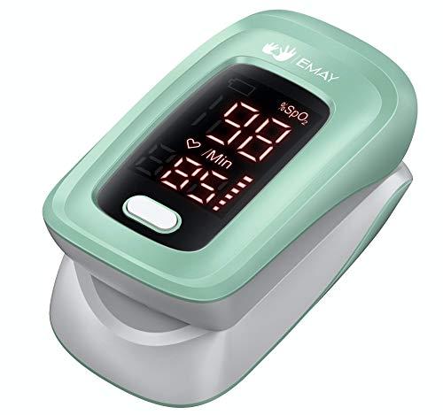 EMAY Oxímetro de Pulso, Pulsioximetro de Dedo | Seguimiento del nivel de saturación de oxígeno en sangre (SpO2) y frecuencia cardíaca
