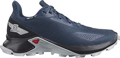 Salomon ALPHACROSS Blast CSWP J Trail Running Shoe, Dark Denim/Black/Pearl Blue, 7 US Unisex Big Kid