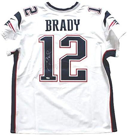 Tom Brady New England Patriots Signed Autograph Nike Elite White ...