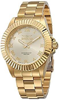 Invicta Men s Pro Diver 44mm Gold Tone Stainless Steel Quartz Watch Gold  Model  16739