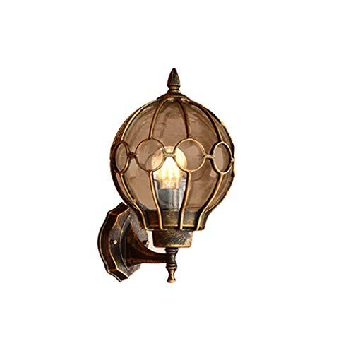 Lámpara de Pared de la vendimia de la pared, luz al aire libre de la pared resistente al agua, la luz de la pared, linterna pared exterior, de aluminio shell antigua luz de la pared exterior de la cas