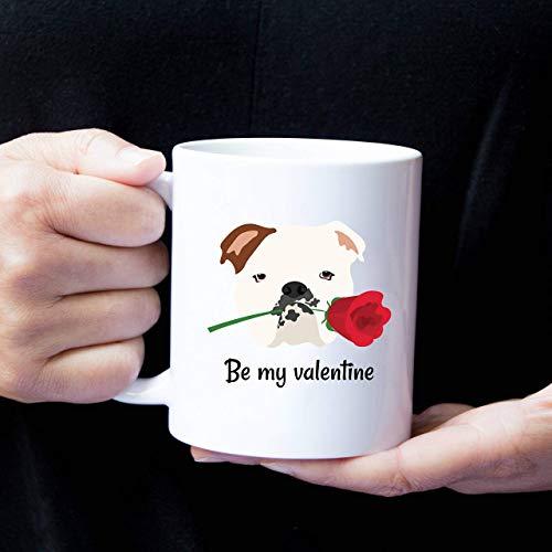 N\A Taza Personalizada Bulldog inglés, Taza de café de Bulldog inglés, Taza de Amor de Bulldog inglés, Taza de café de Bulldog, Perro, Taza de Amor de Bulldog inglés
