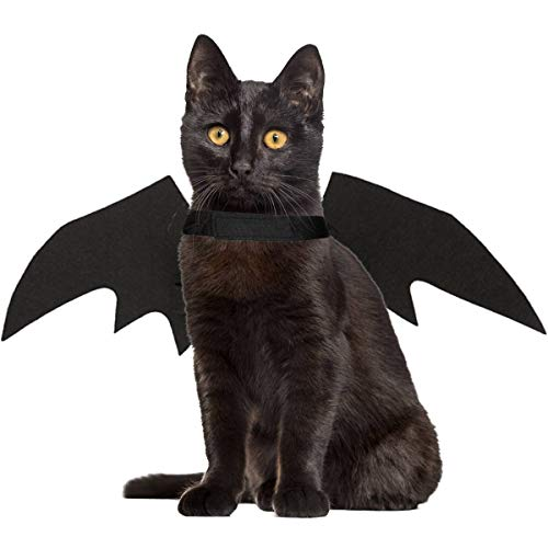 LAWOHO Halloween Pet Costume - Pet Bat Wings Witch Vampire Cosplay Combination Small Cats & Dogs Fun - http://coolthings.us