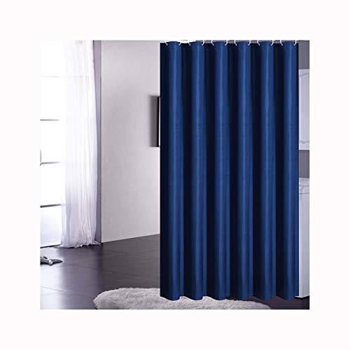 Daesar Vintage Duschvorhang aus Polyester-Stoff Blau Antischimmel Duschvorhang 120x180 cm