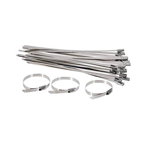 JIEIIFAFH 100-400mm 100pcs Acero Inoxidable Cremallera Corbata de Bloqueo de Cable de Bloqueo Corbatas (Color : 400mm)