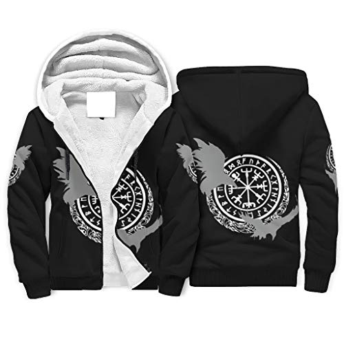 Generic - Sudadera con capucha para hombre, diseño de brújula con cremallera, cómoda, para otoño blanco, 4xl