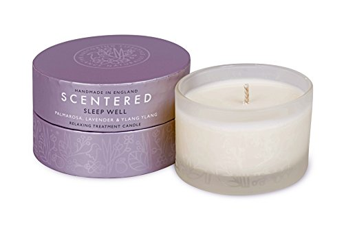 Scentered SLEEP WELL Aromatherapy Scented Candle - Supports Bedtime Relaxation & Restful Sleep - Lavender, Chamomile & Ylang Ylang Blend - Small Candle