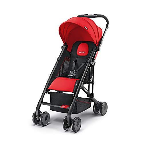 Recaro Kids, Buggy Easylife, Ultraleichter Buggy (6 Monate-15 kg), Faltbarer Kinderwagen für unterwegs, Kompakt, Einfach zu Bedienen, Leicht, 5,7 kg, Ruby