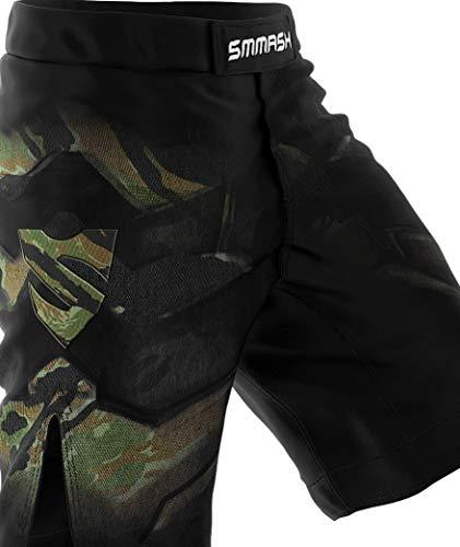 SMMASH Tiger Armour Herren Sport Shorts für Boxen Kampfsport MMA, UFC, Training Sporthose Kurz für Männer, Crossfit Trainingshose Atmungsaktiv und Leicht, Hergestellt in der EU (S)