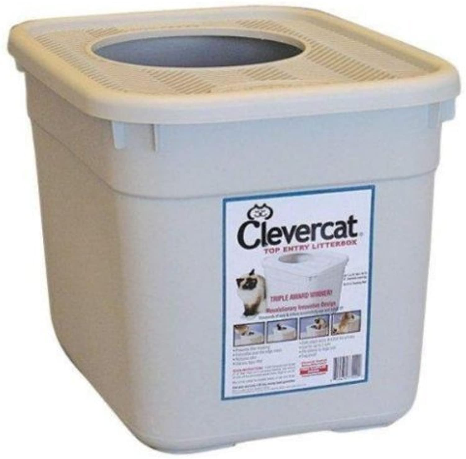 Clevercat Top Entry Litterbox by Monster Pets