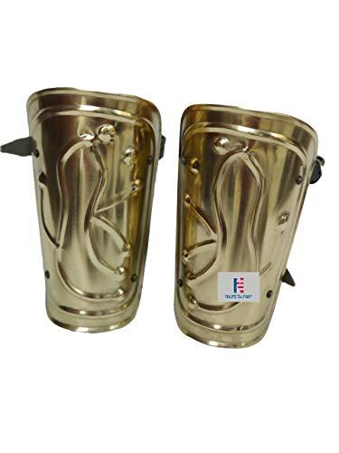 NauticalMart Greek Armour Bracers Vambraces Arm Guard Brass Finish