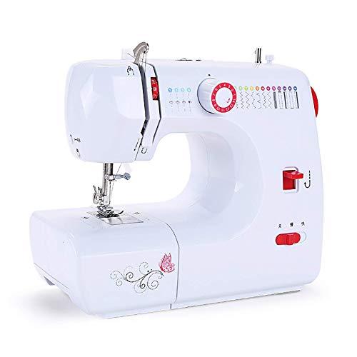 Daily Equipment Máquina de coser portátil para principiantes Máquina de sastrería de alimentación gruesa eléctrica para el hogar Máquina de coser pequeña de escritorio multifuncional con máquina de