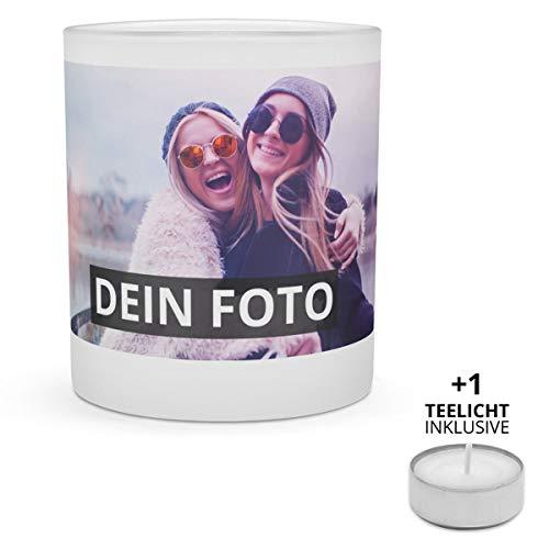 PhotoFancy Windlicht mit Foto Bedrucken - Teelichthalter Personalisieren - Windlichthalter mit Foto gestalten