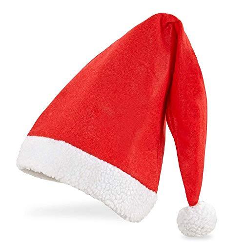 Widmann- Cappello Babbo Natale Extra Lungo Adulto Unisex, Rosso, Taglia unica, 1502X