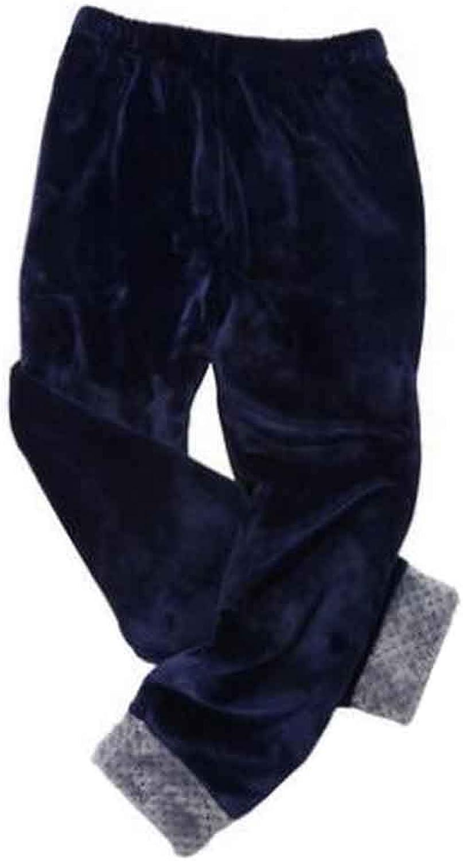 Winter Coral Fleece Men's Sweatpants Flannel Men's Pajamas Men's Sweats [A]