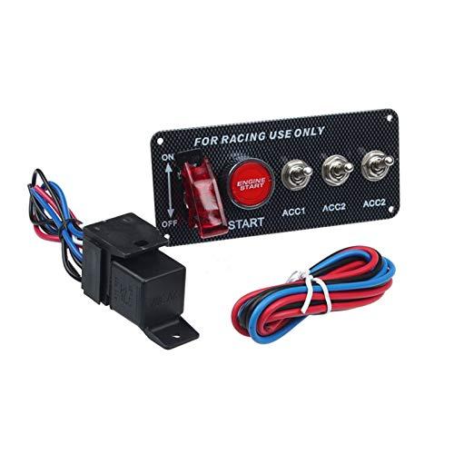 Huajin Racing Coche LED de Palanca del Interruptor de Encendido del Interruptor de Encendido Inicio del Motor Ajuste para 12V Power Powery (Color : A)
