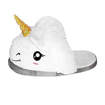 Close Up Unicorn Plush Slippers  one Pair