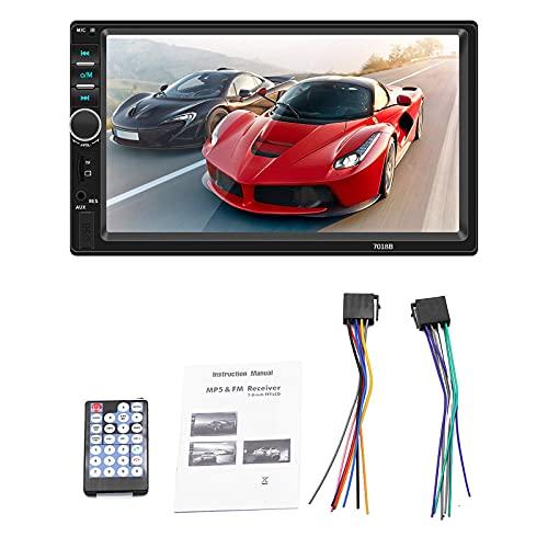 ZWMBAOR Pantalla Visualización Marcha Atrás,Reproductor Bluetooth HD Mp5 Automóvil 7 Pulgadas,Compatible con Interconexión Teléfono Móvil Sistema Dual,para Reacondicionamiento del Automóvil