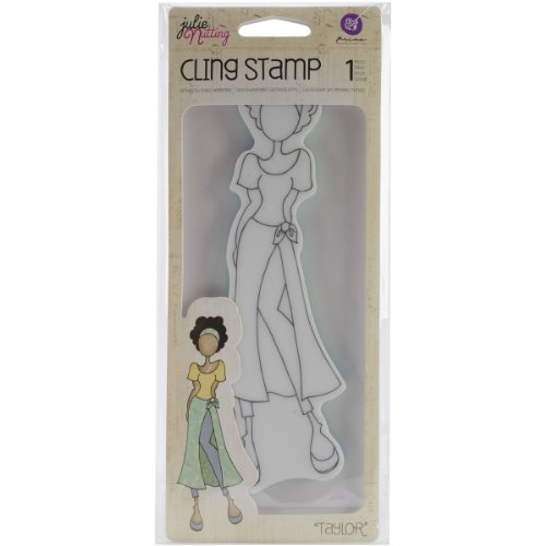 Prima Marketing 415361 Mixed Media Doll Cling Rubber Stamps, Taylor with Wrap Skirt