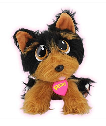 """Juguetes de Bauer """"Rescue Runts"""" Yorkshire (18011): tu nueva mascota para adoptar, cuidar y amar de los animales de peluche, color negro y marrón, aprox. 23 cm. , color/modelo surtido"""