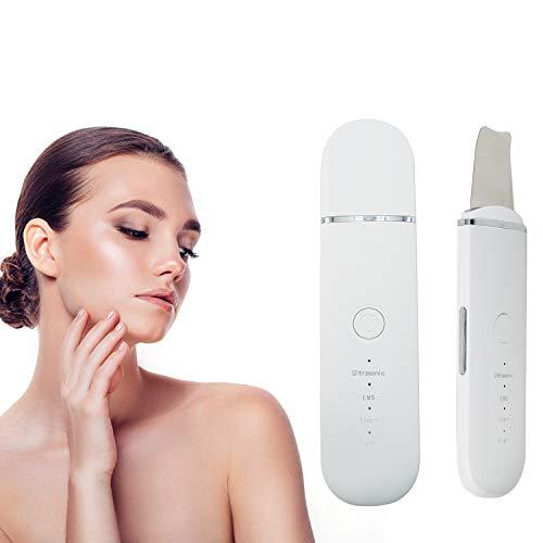 Ultraschallpeelinggerät Koi Beauty Skin Scrubber, Ultraschall-Peeling Porenreiniger Akne-Entferner Ionen Hautreiniger für Gesichtsreinigung Gesichtspflege(Weiß)
