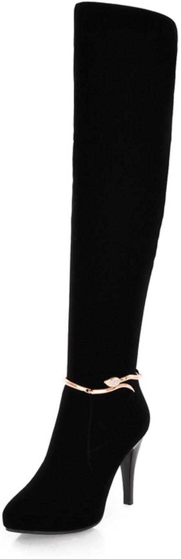 RHFDVGDS super slim knee-boots Long barrel ultra high heel boots Martin boots high boots