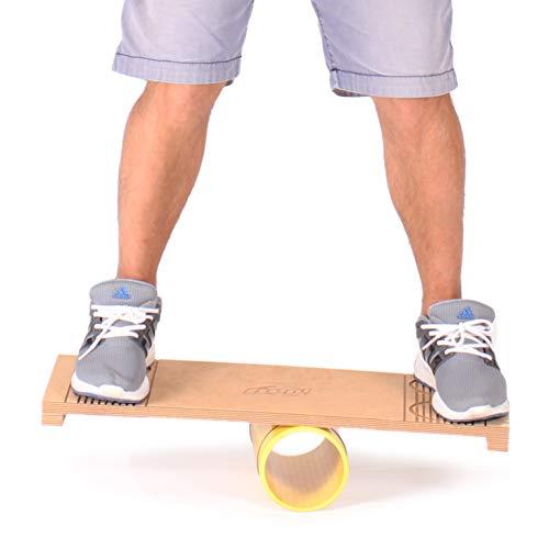 Diabolo Freizeitsport Anfänger Rola Bola Balancebrett in Gelb für Kinder und Jugendliche bis 300kg / Made in Europe