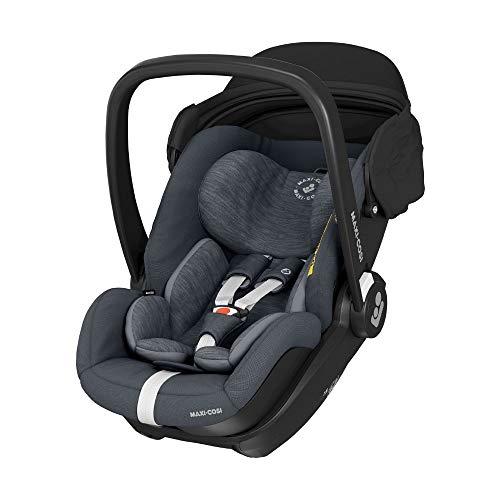 Maxi-Cosi Marble Silla de coche para bebé de grupo 0+, silla de auto reclinable con base isofix incluida,desde nacimiento hasta 13 meses, i-size, color Graphite
