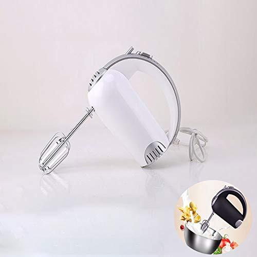 TBYGG Elektrische roerder, met 2 garde en 2 kneedhaken, ergonomisch design, draagbaar, BPA-vrij, professionele handmixer voor deeg, ei, snoep, 5 snelheden, 400 W
