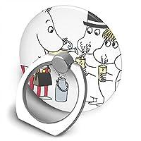 ムーミン かわいいデザイン スマホリング 円形 エアバッグホルダー ホールドリング 指輪リング 落下防止・片手操作・スタンド機能 薄型 リングスタンド バンカーリング リング スタンド機能 引張り可能 携帯便利 各機種適用