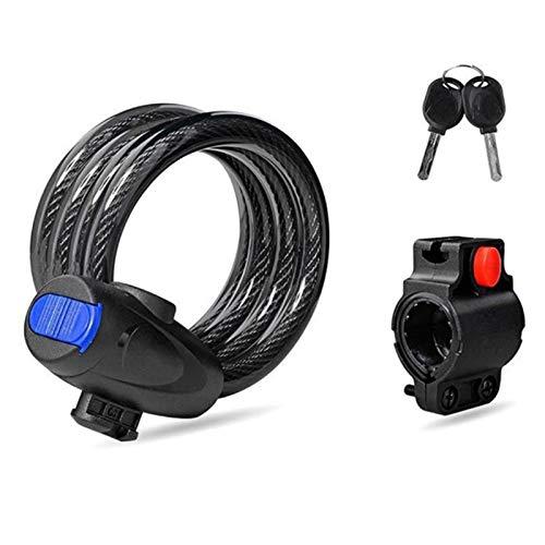 Candado Cable en Espiral para Bicicleta Bloqueo de la Bicicleta Cerradura para Bicicletas con Llave Bicicleta Seguridad Dígitos y Cable de Metal Bicicletas y Otros Artículos que Deben ser Asegurados