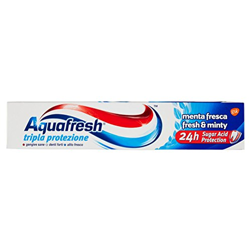 AQUAFRESH Dentifrico tripla protezione menta fresca per igiene orale, 75ml