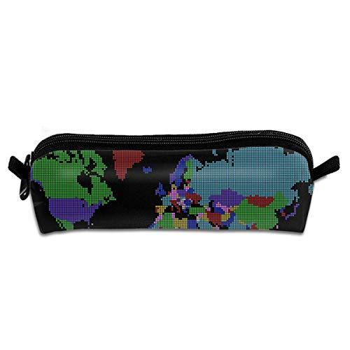 Trousse de maquillage multicolore à pois avec poignée de transport pour sac à main
