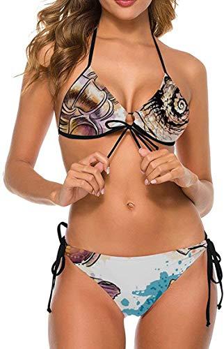 my cat Damen Badeanzug Krawatte Seite Unten Halfter Gepolstert Zweiteilige Badeanzüge Geschenkpapier Marine Design-Lymna8-X-Large