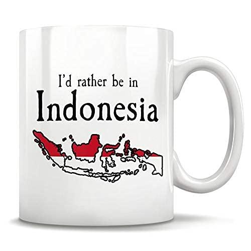 N\A MugIndonesia Geschenk, indonesische Tasse, Jakarta Indonesien, Indonesien Karte, Indonesien Stolz, Indonesien Flagge, Bali Indonesien, Reise nach Indonesien