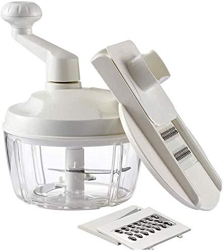 Kabelsnijder White Manual Bijl van het Voedsel, Keuken Home Handleiding Bijl van het Voedsel Blender, Slicer Dicer BPA Gratis Mixing Bowl