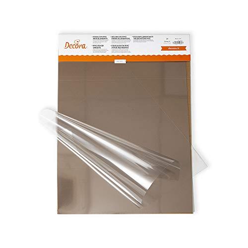 Decora 0160720 CF 10 Fogli PVC per Alimenti 150 Mycron 40 X 60 Cm