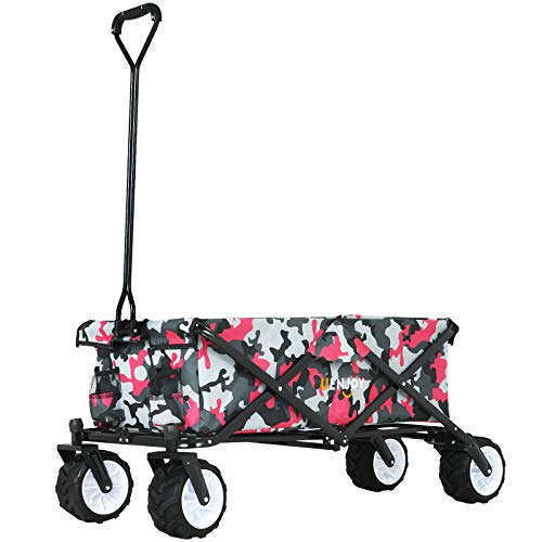 Uenjoy 3-in-1 Children's Wagon, Four Wheel, EZ Folding, Foldable Convenient Outdoor Collapsible...