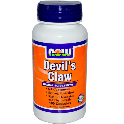 NOW Devil's Claw Root 6:1 500mg, 100 Capsules