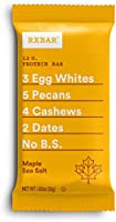 RXBAR, Maple Sea Salt, Protein Bar, 1.83 Ounce (Pack of 24), High Protein Snack, Gluten Free