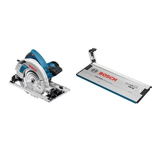 Bosch Professional Handkreissäge GKS 85 G (Sägeblatt, Absaugadapter, L-BOXX, 2200 Watt, Sägeblatt-Ø: 235 mm) + Bosch Professional FSN WAN Winkelanschlag für Führungsschiene, 1600Z0000A